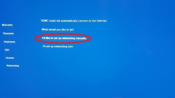 OSMC manual networking conf