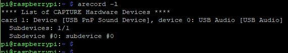 USB microphone arecord cmd