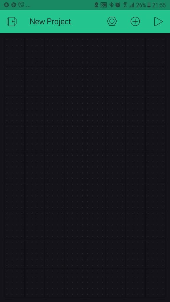 Blynk app 3 empty new project