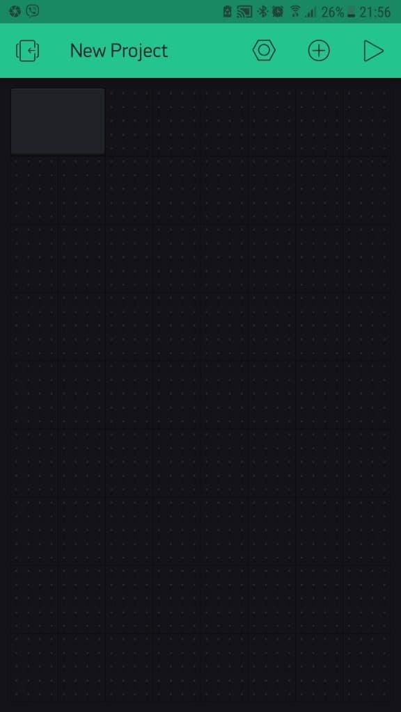 Blynk app 5 widget inserted