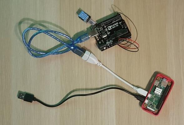 Raspberry pi Arduino weather station