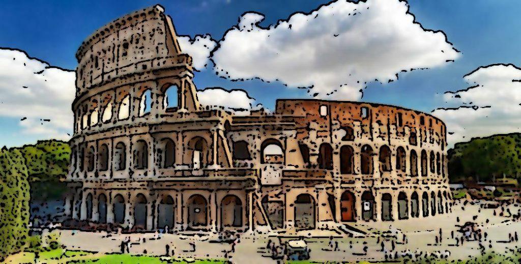 colosseum opencv cartoon